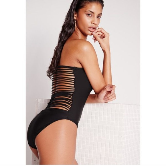 85bfe0c8fe Missguided Backless Sweetheart One Piece Caged 6 M